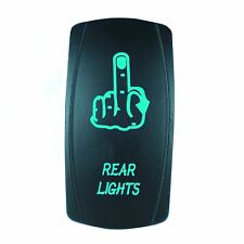 Laser GREEN Rocker Switch LED FINGER 20A 12V On/off LED Light