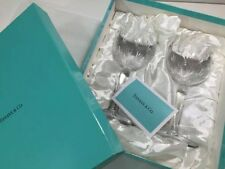 Tiffany & Co Wine glass pair set with box  unused from Japan F/S