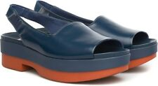 CAMPER SHOES MEMPHIS SLINGBACK PLATFORM SANDALS $175 37 7 BLUE ORANGE 22596-001