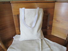 24 DIY Natural CANVAS TOTE BAGS bulk FREE S/H beach pool party supplies