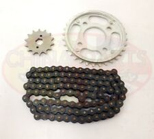 Heavy Duty Chain & Sprockets Set for Kinroad XT250-16 Cyclone Cruiser