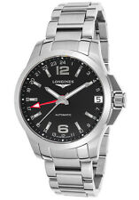 NIB Longines Conquest Automatic GMT Watch, 41 mm, Swiss Made, MSRP $1800, 10 Pic