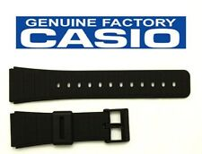 CASIO DBC-62 22mm Original Black Rubber Watch BAND Strap DATA BANK DBC-80