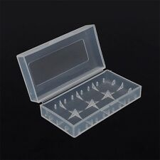 Clear Battery Case for 18650 18350 Protective Travel Box - Storage Holder