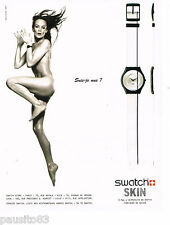 PUBLICITE ADVERTISING 065  1997   la montre SWATCH SKIN