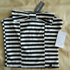 Wet Seal Small Camila Bow Front Striped Tube Crop Brand New Ships Free in US