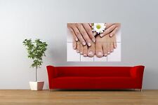 PHOTO BEAUTY SALON SPA NAILS FRENCH MANICURE PEDICURE GIANT PRINT POSTER NOR0873