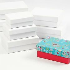 Rectangular white cardboard boxes 2 X  set of 3 PM415