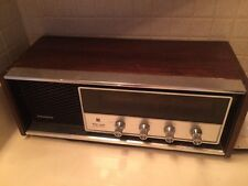 Vintage Panasonic RE-7369 AM/FM Solid State Radio, Tabletop Wood Cabinet