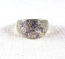 2.00ct Purple & White Cubic Zirconia 925 Sterling Silver Ring US (9) AU (R)
