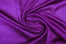 Mousseline de Soie Satin Haute Couture Violet