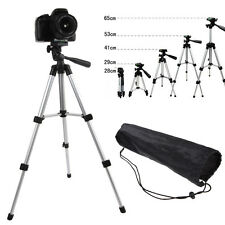 Flexible Portable Aluminum Tripod Stand + Bag For Canon Nikon Camera Camcorder