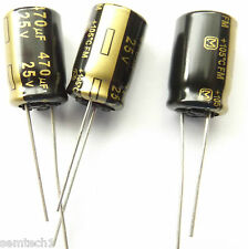470UF 25V 105c  LOW ESR  Panasonic EEUFM1E471 size10mmx16mm   x3pcs