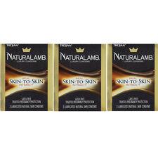 3 Pack - Trojan Naturalamb Natural Skin Lubricated Condoms 3 Each