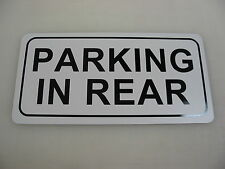 PARKING IN REAR Metal Sign Vintage Car Shop Garage Pumping Gas Service Station