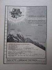 6/27 PUB LORRAINE DIETRICH MOTEUR AVIATION RECORD ALTITUDE EVEREST MONT BLANC AD