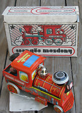 VINTAGE CSENGOS MOZDONY BELL RINGER TIN TOY B/O LOCOMOTIVE TRAIN ENGINE