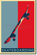 SKATEBOARDING ART PHOTO PRINT (OBAMA HOPE) POSTER GIFT SKATEBOARD