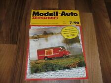 MODELL-AUTO 7/1990 -- Landmaschinen in HO // Fuhrpark Airport Stuttgart // Busse
