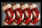 Pack of 4 Stockings Christmas Tree Baubles - Christmas Decorations (DP46) B