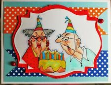 MyTeeth Blew out in  Cake (photo #2) L@@k@examples Art Impressions Rubber Stamps