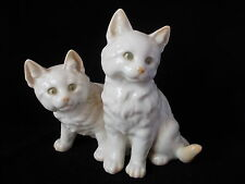 STUNNING HUTSCHENREUTHER DOUBLE WHITE CAT FIGURINE BY M.H. FRITZ