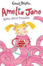 NEW - AMELIA JANE GETS INTO TROUBLE ( Amelia Jane book)  Enid Blyton WHITE COVER