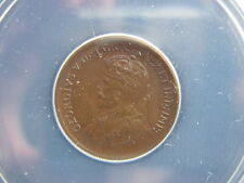 1934 Canada Smal Cent ANACS Certified MS61 BN (Brown)
