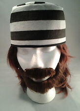 Prisoner Hat Jailbird Black & White Stripe Hat Adult Size