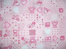 craft fabric  remnant material quilting  1 metre baby pink