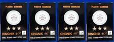 KINGNIK 40+ Seamless Table Tennis Balls (3 Stars , ITTF Approved)  , Pack of 24