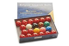 "ARAMITH TOURNAMENT CHAMPION MATCH 2 1/16"" (52.5mm) SEALED BOX SNOOKER BALLS"