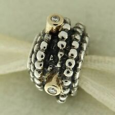 Authentic Pandora 790277D Entangled Beauty Diamond 14K Gold Sterling Bead Charm