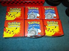 6 Pokemon Limited Edition Pikachu and Another with 23K Gold Plated Card in Box