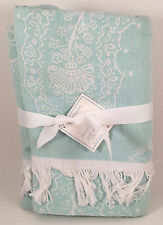 Pottery Barn Kids Paisley Throw Blanket in BLUE So Soft NEW with TAGS