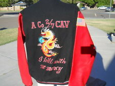 A Co 2/7 CAV  No Mercy Dragon Embroidered Letterman Style Jacket Bradley Team