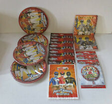 Power Rangers Party pack for 30 people - Plates, Napkins, Loot Bags foil balloon
