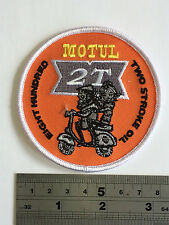 Vespa Motul 2T Patch - Embroidered - Iron or Sew On