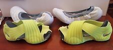 NIKE STUDIO WRAP WOMENS DANCE YOGA SHOES SIZE 6 DOVE GREY-VOLT 684870-002