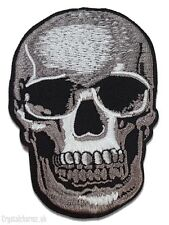 Skull Iron Sew On Embroidered Patch Applique Motif Biker Army Badge Jacket Jeans