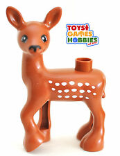 *NEW* LEGO DUPLO Med Deer Doe Figure Forest Creature Faun Baby Animal Zoo Faun
