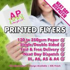 Full Colour printed Flyers, Leaflets printing FROM £19