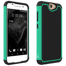 For HTC One A9 Teal / Black Case Hybrid Protective Shock Absorbent Phone Cover