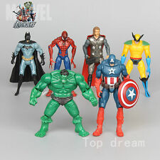 6X Marvel The Avengers Super Hero Hulk Captain Batman Figure Action Toy LightING
