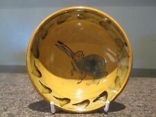Studio Pottery Small Bowl - Rabbit / Hare Design