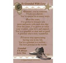 TO GRANDAD WITH LOVE - WALLET KEEPSAKE VERSE PRAYER CARD 100's OF OTHERS LISTED