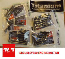 Suzuki SV650 all years  Race Titanium Engine bolt kit