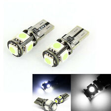 2x white Canbus T10 194 168  5 LED SMD Car Side Wedge Light Lamp Bulb HL-1