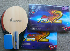 New 729-2 + DHS  Wind Blade, Custom-made Table Tennis Bat, Offensive, OZ Seller