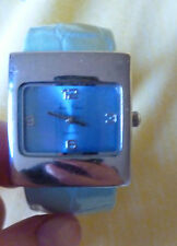Lady's Analogue Jean Patrick Battery Powered watch with Turquoise Bracelet Strap